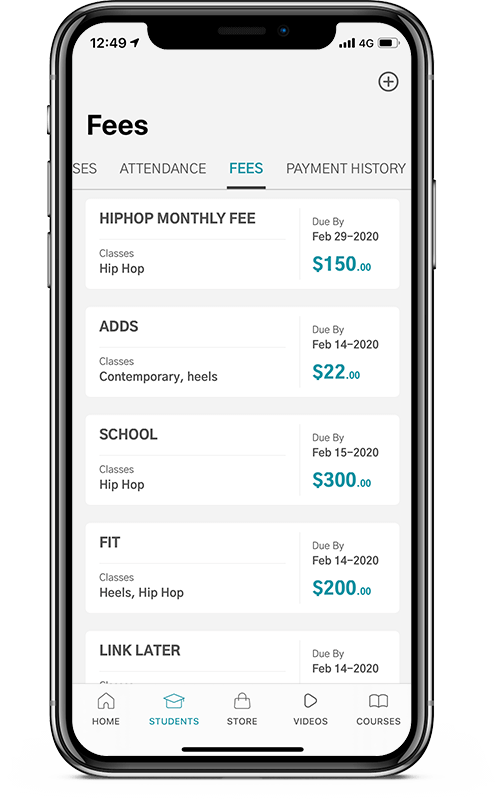 Zoho Classes App Attendance, fees and history